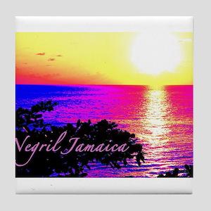 Negril, Jamaica Tile Coaster