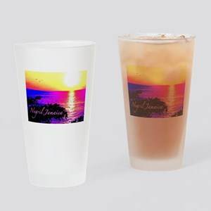 Negril, Jamaica Drinking Glass