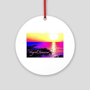 Negril, Jamaica Round Ornament