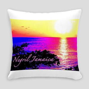 Negril, Jamaica Everyday Pillow