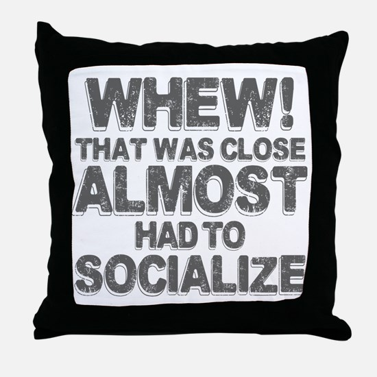 Funny Antisocial Throw Pillow