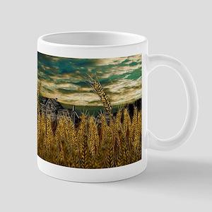 Farm House in Wheat Field Mugs