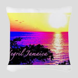 Negril, Jamaica Woven Throw Pillow