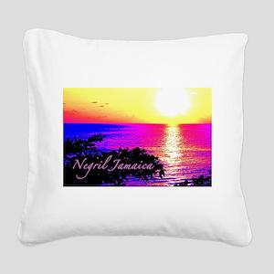 Negril, Jamaica Square Canvas Pillow