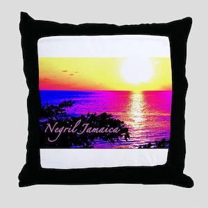 Negril, Jamaica Throw Pillow
