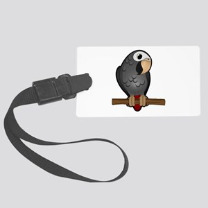 Cute Timneh African Grey Large Luggage Tag