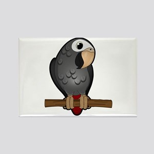 Cute Timneh African Grey Magnets