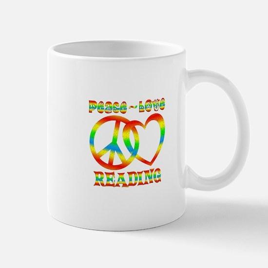 Peace Love Reading Mug