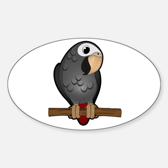 Cute Timneh African Grey Decal