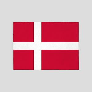 Flag of Denmark 5'x7'Area Rug