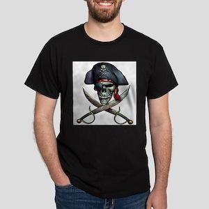 Pirate Skull and crossed swords Ash Grey T-Shirt