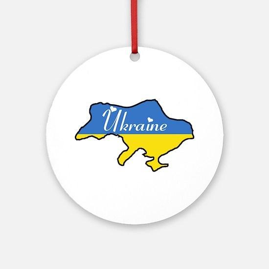 Cool Ukraine Ornament (Round)