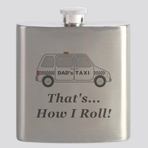 Dads Taxi How I Roll Flask