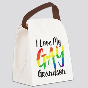 I Love My Gay Grandson Canvas Lunch Bag