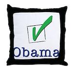 Obama Check Light Throw Pillow