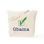Obama Check Light Tote Bag
