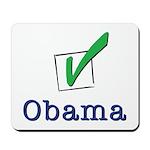 Obama Check Light Mousepad