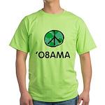 Obama Peace Light Green T-Shirt