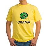 Obama Peace Light Yellow T-Shirt