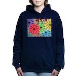 Colorful Flowers Women's Hooded Sweatshirt