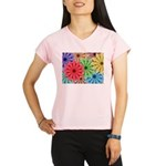 Colorful Flowers Performance Dry T-Shirt
