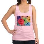 Colorful Flowers Racerback Tank Top