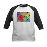 Colorful Flowers Baseball Jersey