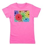 Colorful Flowers Girl's Tee