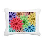Colorful Flowers Rectangular Canvas Pillow