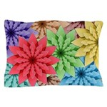 Colorful Flowers Pillow Case