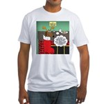 A Wiener Dog Christmas Fitted T-Shirt