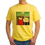 A Wiener Dog Christmas Yellow T-Shirt