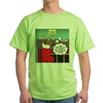 A Wiener Dog Christmas Green T-Shirt