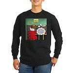 A Wiener Dog Christmas Long Sleeve Dark T-Shirt