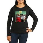A Wiener Dog Chri Women's Long Sleeve Dark T-Shirt