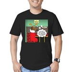 A Wiener Dog Christmas Men's Fitted T-Shirt (dark)