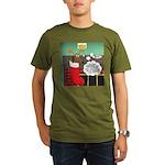 A Wiener Dog Christma Organic Men's T-Shirt (dark)