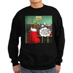 A Wiener Dog Christmas Sweatshirt (dark)