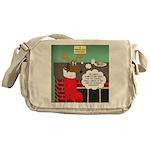 A Wiener Dog Christmas Messenger Bag