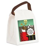A Wiener Dog Christmas Canvas Lunch Bag