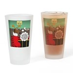 A Wiener Dog Christmas Drinking Glass