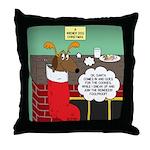 A Wiener Dog Christmas Throw Pillow
