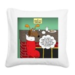 A Wiener Dog Christmas Square Canvas Pillow