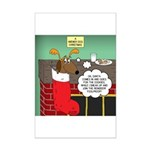 A Wiener Dog Christmas Mini Poster Print