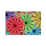 Colorful Flowers Magnets