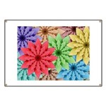 Colorful Flowers Banner