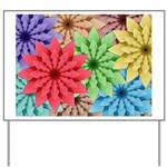 Colorful Flowers Yard Sign