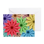 Colorful Flowers Greeting Cards