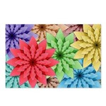 Colorful Flowers Postcards (Package of 8)