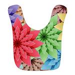 Colorful Flowers Bib